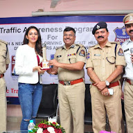 Rakul Preet Singh At Traffic Training Institute Gosha Mahal Pics