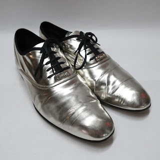 Gucci Metallic Oxfords