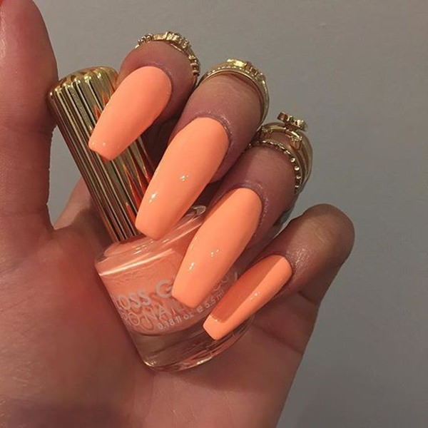 Solid Color Acrylic Nails Best Nail 2018