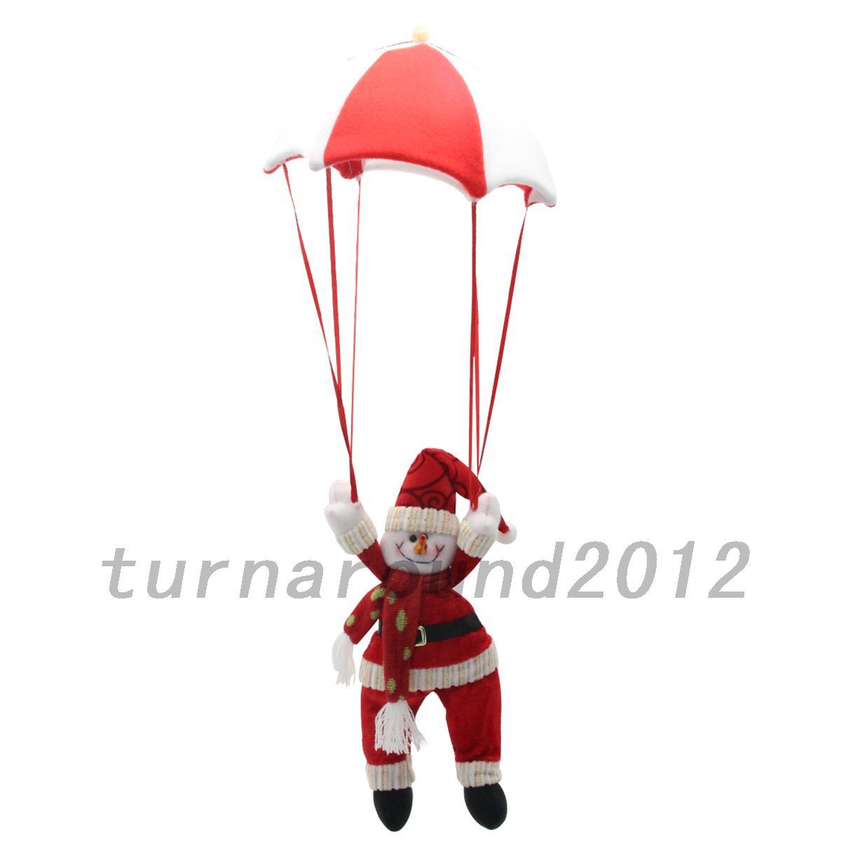 Christmas tree hanging decorations new parachute santa claus snowman - New Santa Claus Snowman In Parachute Christmas Tree
