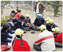 An exposure visit to school students to 'Kansal &Nepali' forests in Chandigarh