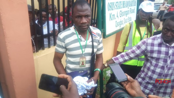 BREAKING: INEC Official Arrested For Tearing Controversial Result Sheets