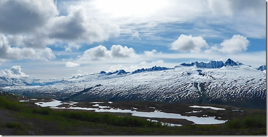 Thompson Pass view, Richardson Highway near Valdez Alaska