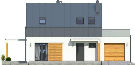 Eco 3 z garażem 1-st. A - Elewacja przednia