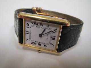 Cartier 18kt 'Tank Quartz' Wristwatch