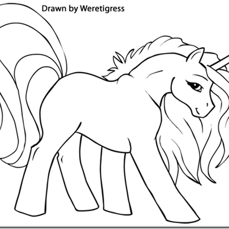 Dibujos Para Colorear Unicornios Infantiles - Dibujos Para Dibujar
