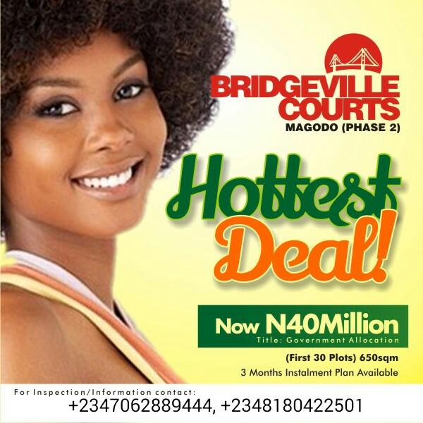 BRIDGEVILLE COURTS MAGODO GRA PHASE II, LAGOS, NIGERIA (LAND FOR SALE)