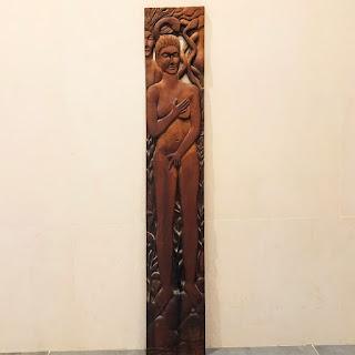 Jill Newell Hand-Carved Wooden Wall Sculpture