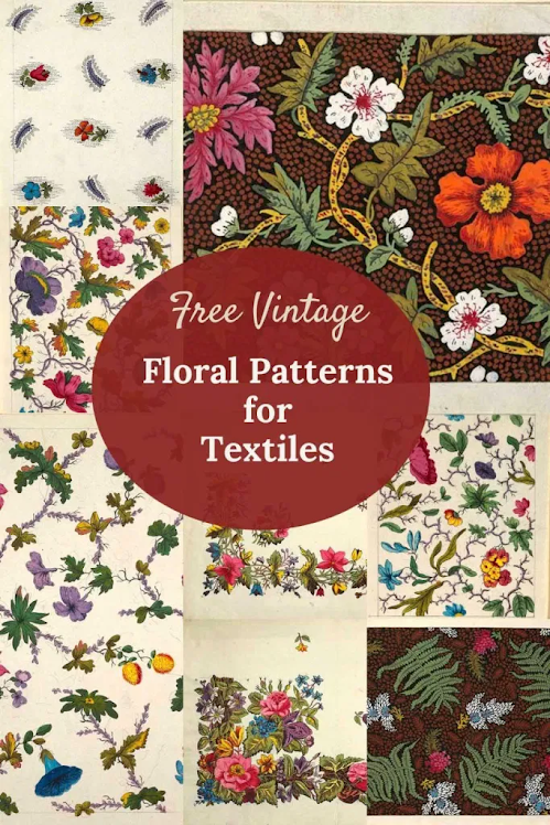 Beautiful Vintage Floral Pattern Designs for Textiles, most viewed post from Funtastic Friday #314.
