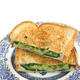 Spinach and Avocado Grilled Cheese Sandwich.