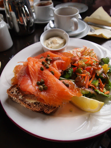Smoked Salmon at Kinnity Castle Co Offlay. Ireland for Foodies. From Ireland Family Vacations