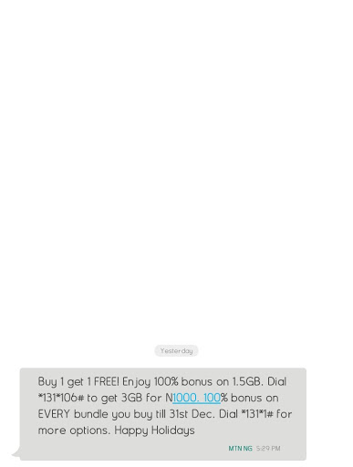 You Can Now Get 3GB On MTN For N1000 And 100% Bonus On Other Plans 3