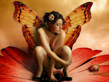 Fairy In Red Flower