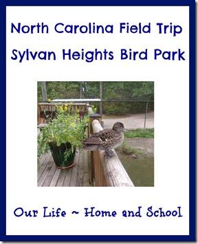 Sylvan Heights Bird Park Field Trip