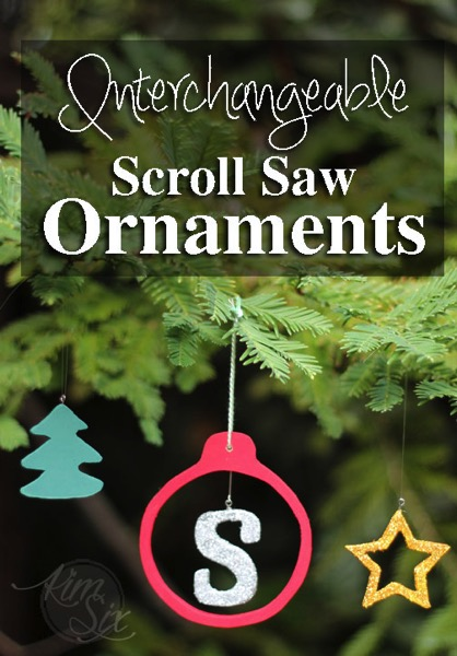 Interchangeable scroll saw ornaments