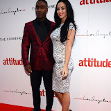 WWW.ENTSIMAGES.COM -  Simon Webbe and Maria Koukas   at  Attitude Magazine's World's Sexiest Men 2013 - summer party Takes place in The Carbon bar. The Cumberland Hotel,  London July 18th 2013                                                   Photo Mobis Photos/OIC 0203 174 1069