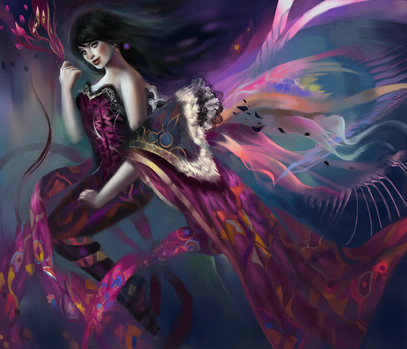 Wallpaper Witch By Lappisch, Pretty Witches