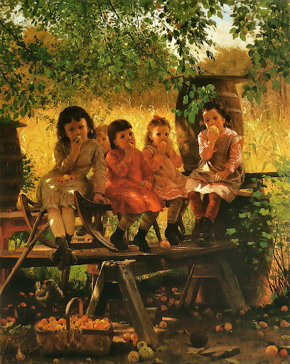 John George Brown - The Cider Mill, 1880