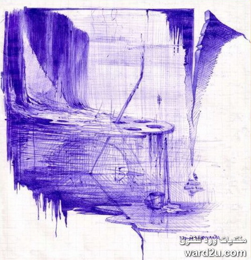 لوحات سيريالية بلون واحد