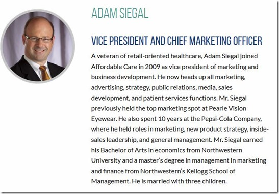 Adam Siegal-VP-Mrktg-Affordable Care