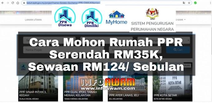 Cara Mohon Rumah PPR Serendah RM35K, Sewaan RM124/ Sebulan