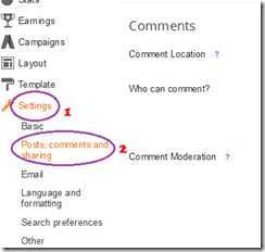 Enabling Google  Commenting System in Blogger1