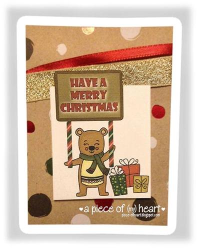 Merry Christmas Bear_apieceofheartblog