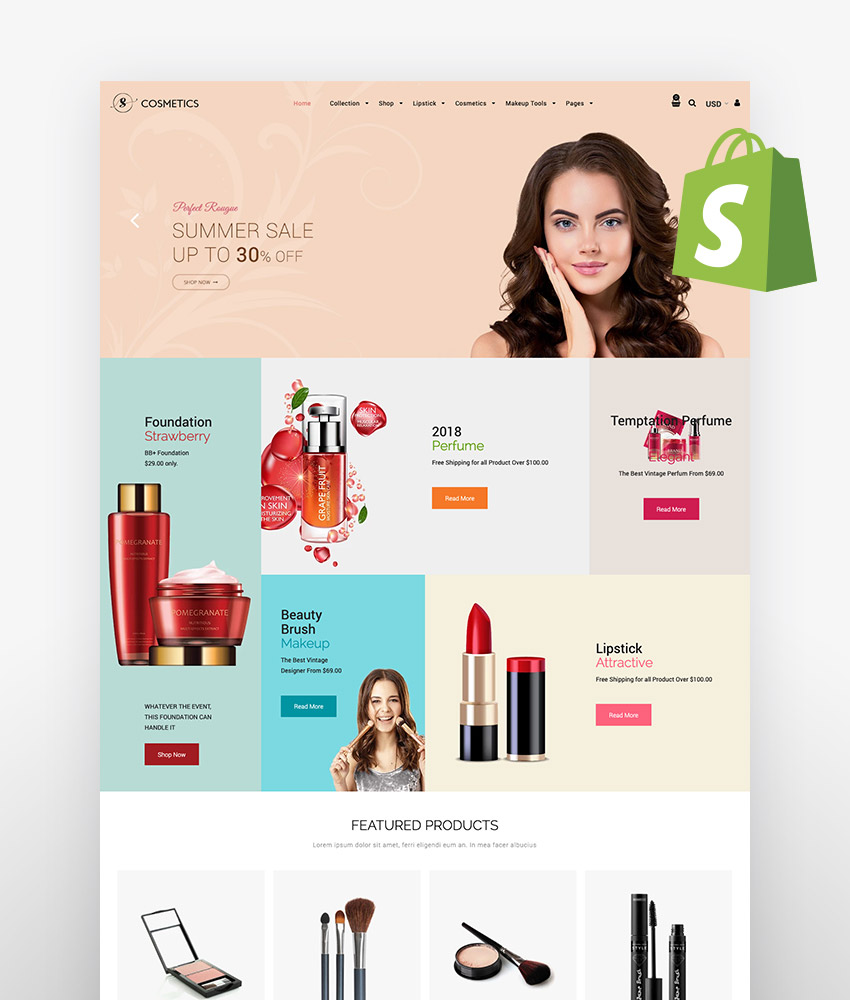 Shopify skin care themes Sasha