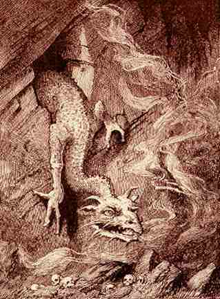 Fafner As A Dragon, Asatru Gods And Heroes