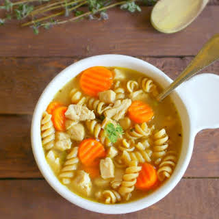 15 Minute Easy Chicken Noodle Soup.