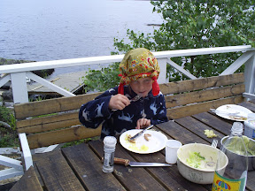 En pirat som äter!