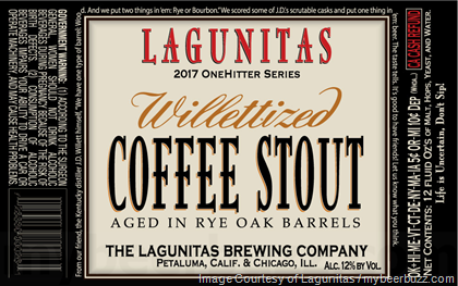 Lagunitas Willettized Coffee Stout Coming To 2017 One Hitter Series