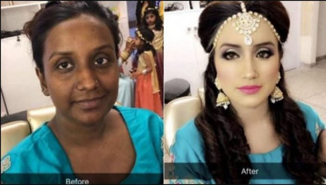Just See This Incredible Wedding Make-up Transformation (Photos)