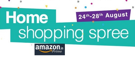 Amazon Home Shopping Spree - 24th To 28th August