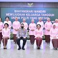 Peringati HKGB ke-69, Kapolri: Polri Kuat Karena Didukung Oleh Bhayangkari