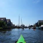 133-We varen naar de sluizen op de Diepe Dolte. Daar achter ligt het Ijsselmeer.