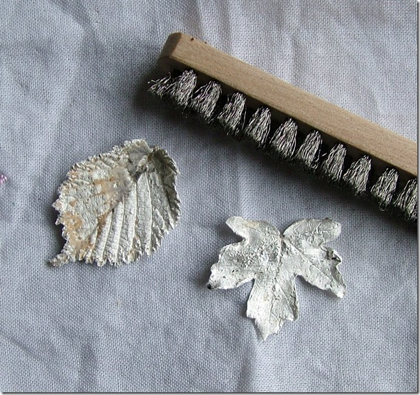 Silver leaves after firing
