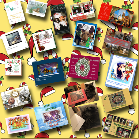 Chirstmas card collage 2017