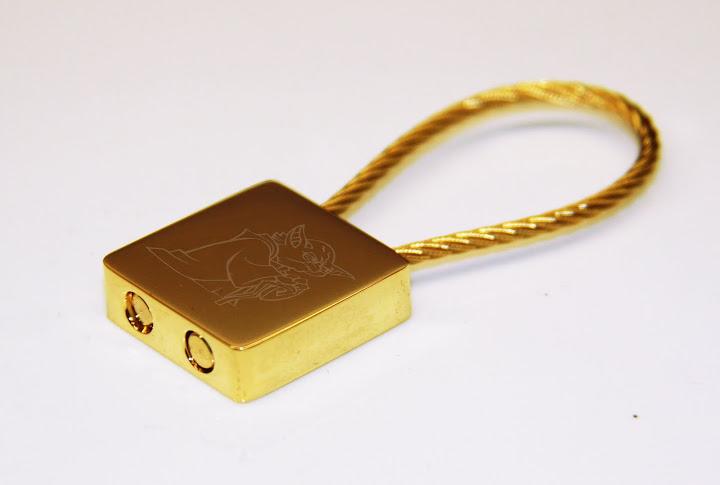 STAR WARS Yoda Gold Plated Keychain
