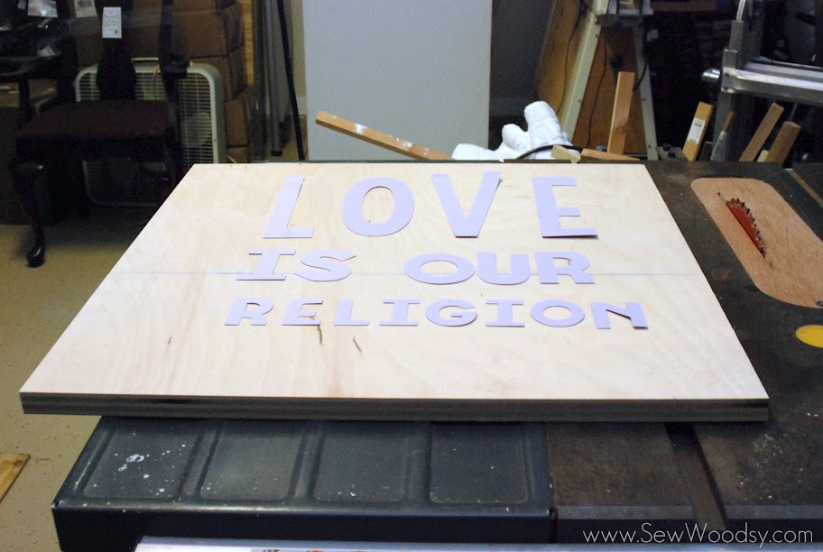 love is our religion vinyl sign