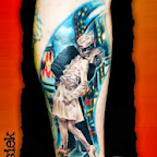 kissing sailor at the end of the war - Leg Tattoos Designs