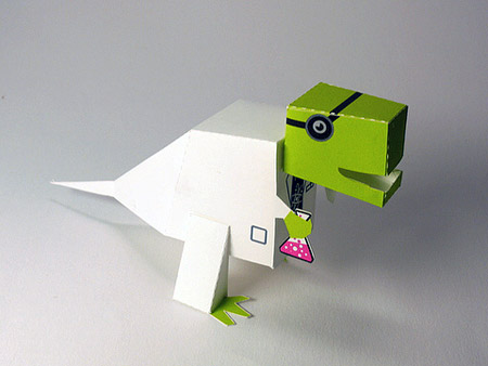 Dino Scientist Paper Toy
