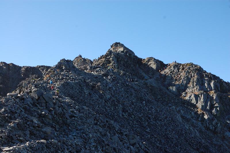 奥穂高岳の最後の登り