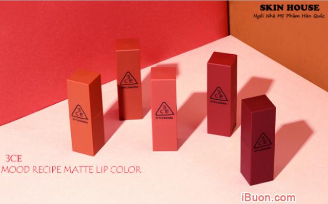 Bộ sưu tập Son lì 3CE Mood Recipe Matte Lip Color của Hàn Quốc + Hình 3