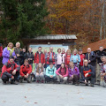 ekipa prije polaska kod lovačkog doma Muljava