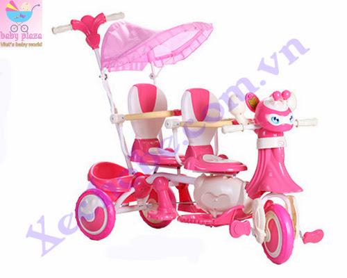 Xe đạp cho bé 3 bánh đôi 9027 2