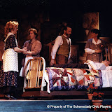 Cynde Schwartz, Donna Newton,Jeffrey Knight,  Pat Kerton and Christopher Foster in LOOK HOMEWARD, ANGEL (R) - March 1994.  Property of The Schenectady Civic Players Theater Archive.