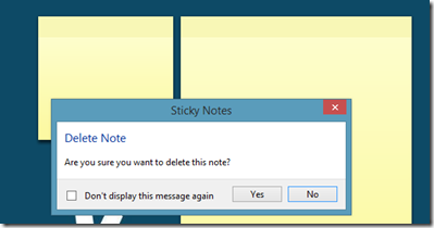 Sticky Notes Delete