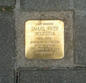 Samuel (Frits) Woudstra - Bisschopstraat 14 - Stolperstein Enschede