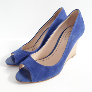 Tod's Cobalt Blue Suede Wedges